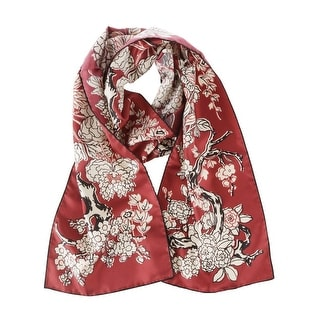 Valentino Women's Red Printed Floral Silk Scarf