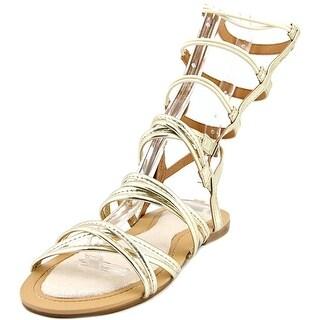 Stuart Weitzman Camia Sparta Low Open Toe Synthetic Gladiator Sandal