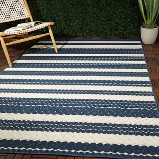 Link to Caldwell Nautical Stripe Indoor/Outdoor Area Rug Similar Items in Rugs