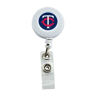 Minnesota Twins Retractable Badge Reel Id Ticket Clip MLB White