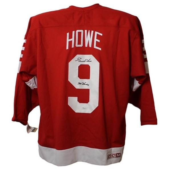 09120dd132d Shop Gordie Howe Autographed Detroit Red Wings CCM Red XL Jersey JSA - Free  Shipping Today - Overstock - 23500778