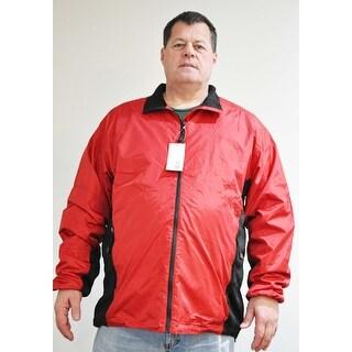 Clique MQO00003 Mens Silver Lake Red/Black Color Jacket Size XXXXXL