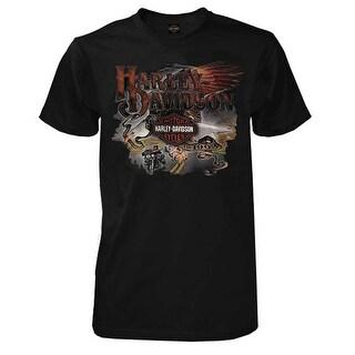 Harley-Davidson Men's Longest Ride Bar & Shield Short Sleeve T-Shirt - Black