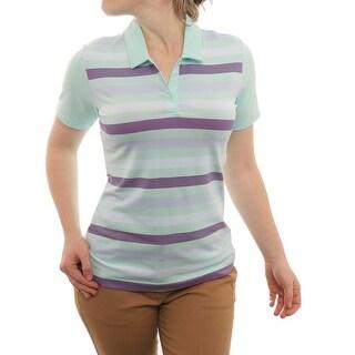 Adidas Puremotion Merch Stripe Short Sleeve Polo Women Regular Polo