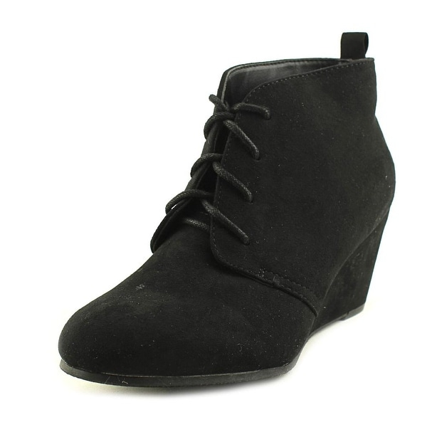 New Directions Camden Women Round Toe Synthetic Black Ankle Boot
