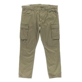Polo Ralph Lauren Mens Cargo Jeans Denim High Rise Green 38/30