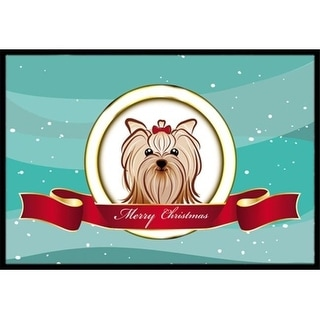Carolines Treasures BB1514JMAT Yorkie Yorkishire Terrier Merry Christmas Indoor & Outdoor Mat 24 x 36 in.