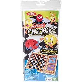 Checkers - Magnetic Go Travel Game