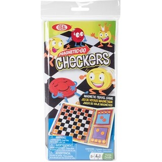 Magnetic Go Travel Game-Checkers