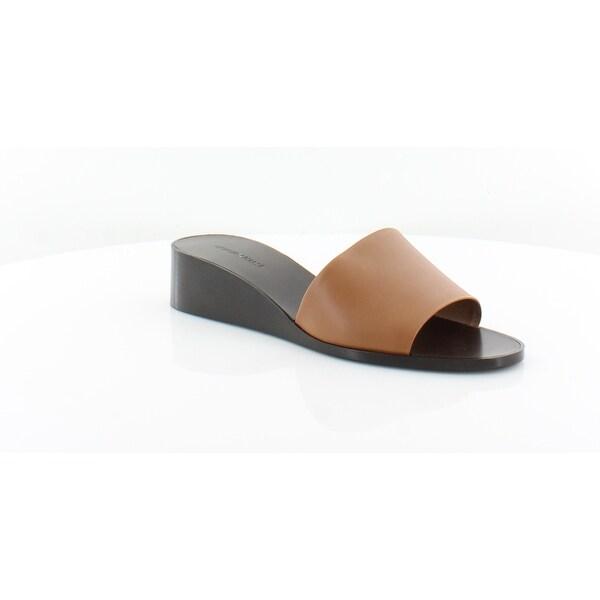 feead3799 Shop Giorgio Armani Demi Wedge Slide Women s Sandals 00021 - 9 ...