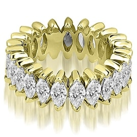 5.75 cttw. 14K Yellow Gold Marquise Diamond Eternity Ring