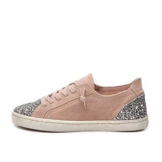 Dolce Vita Womens Xexe Suede Low Top Lace Up Fashion Sneakers