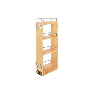 """Rev-A-Shelf 448-BBSCWC-5C 448-BBSCWC Series 9"""" Two Tier Pull Out Upper Cabinet Organizer with 3 Shelves and Soft-Close Slides"""