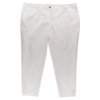 MICHAEL Michael Kors Womens Plus Casual Pants Solid Cotton