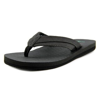 Sanuk Rootbeer Cozy Light Youth Open Toe Synthetic Black Thong Sandal