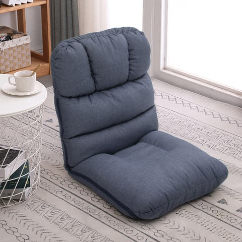 Adjustable Floor Chair Folding Recliner Padded Lazy Gaming Sofa