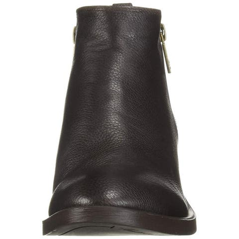 Kenneth Cole New York Womens levon Leather Almond Toe Ankle Fashion Boots