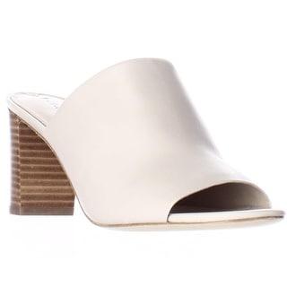 Via Spiga Wynola Peep Toe Slide Mule Sandals - Light Taupe