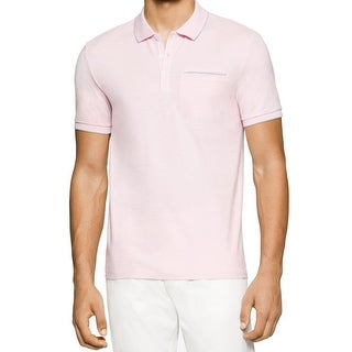 Calvin Klein NEW Light Pink Mens Size 2XL Polo Rugby Cotton Shirt