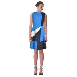 Charter Club Colorblocked Fit & Flare Sleeveless Dress - 14