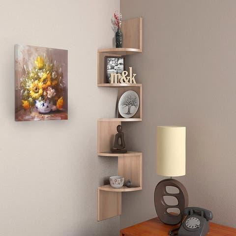 Nova Furniture 5-tier Floating Corner Shelf