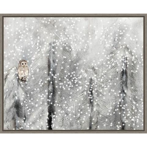 Snowy Habitat II (Owl) by Alicia Ludwig Framed Canvas Art