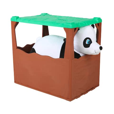 Zoo Crew 6V Plush Panda with Jungle Den Included