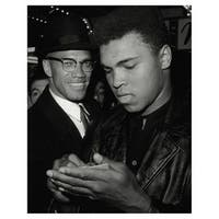 ''Muhammad Ali and Malcolm X, NYC, March 1, 1964 (mini)'' by Anon African American Art Print (10 x 8 in.)