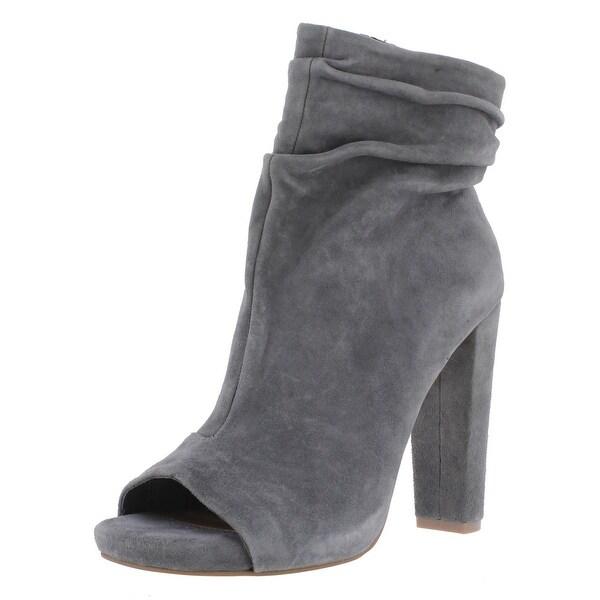 Steve Madden Womens Ellison Ankle Boots Suede Open Toe