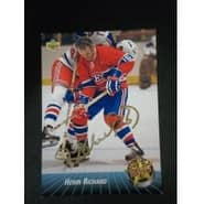 Signed Richard Henri Montreal Canadiens 1992 Upper Deck Hockey Card autographed