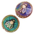 Mirage Color Changing Mood Beads - Round Spacer With Honey-Bee Pattern 19mm (2) - Thumbnail 0