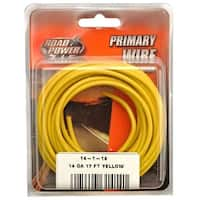 Road Power 55670833 Primary Electrical Wire, 14 Gauge, 17', Yellow