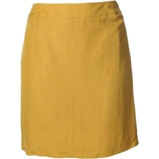 Tahari Womens Tony Linen Blend Casual Pencil Skirt
