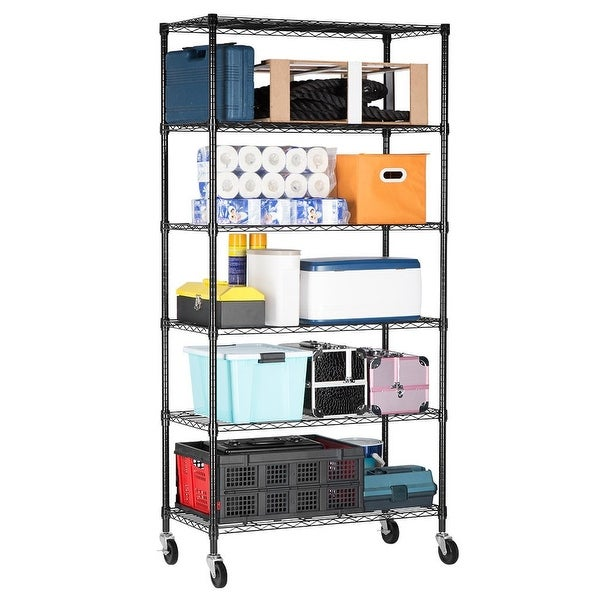 Shop Langria 6 Tier Rolling Shelving Storage Rack Metal