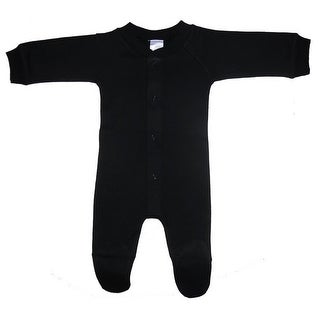 Bambini Baby Unisex Black Solid Color Closed-Toe Long Johns