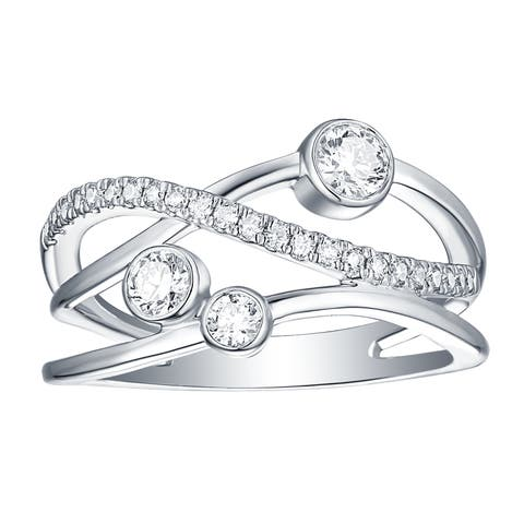Smiling Rocks Bubbly Collection 0.49Ct G-H/VS1 Lab Grown Diamond Ring