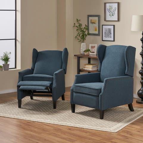 Wescott Contemporary Recliners (Set of 2) by Christopher Knight Home