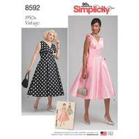 20W-28W - Simplicity Misses' And Women's Vintage Dress