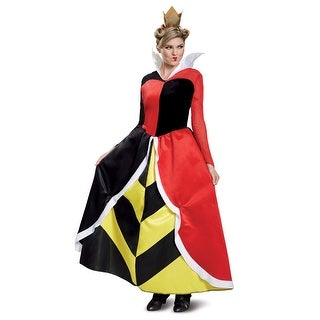 Womens Deluxe Queen Of Hearts Disney Movie Costume