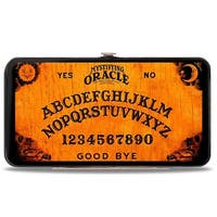 Mystifying Oracle Ouija Board Elements + Planchette Wood Black Hinged Wallet - One Size Fits most