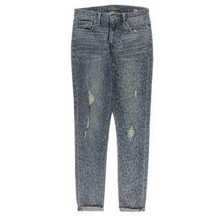 Lucky Brand Womens Bridgette Skinny Jeans High Rise Destroyed