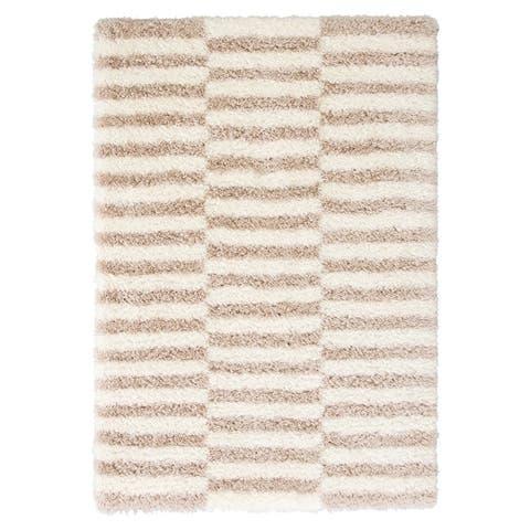 Vanna Stripes Ivory/ Pink Area Rug