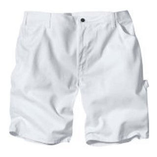 "Dickies DX400WH 30 Men's Painter's Shorts, 30"", White"