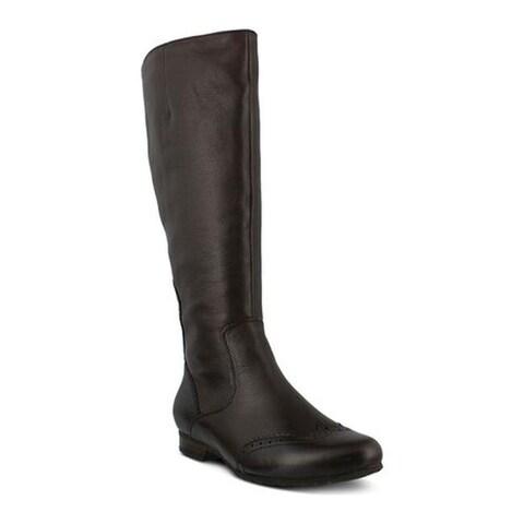 Spring Step Women's Macbeth Knee High Boots Dark Brown Leather