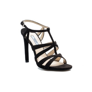 Prada Women's Strapped High Heels Black Shoes - 6