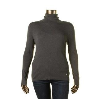 Lauren Ralph Lauren Womens Ribbed Knit Turtleneck Pullover Sweater
