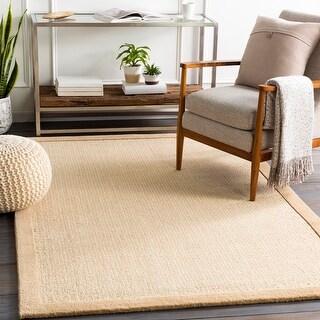 Bismarck Handmade Bordered Wool Area Rug