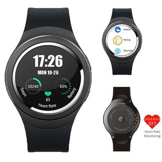 Indigi® Waterproof Android 4.4 Smartphone Watch (3G+WiFi) Google Play Store Heart-Rate Monitor GSM UNLOCKED!