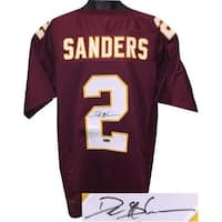 CTBL-021756 Deion Sanders Signed Maroon Stitched College Football