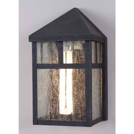 "Volume Lighting V6961 Energy Saving Outdoor 1 Light 9.5"" Height Outdoor Wall Sconce with Clear Seedy Glass"